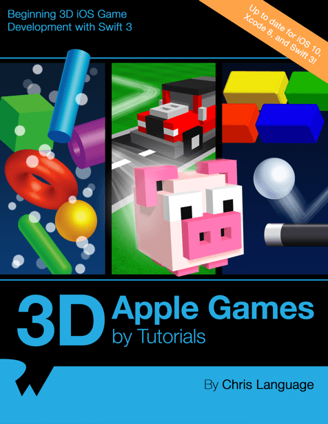 3D Apple Games by Tutorials book cover