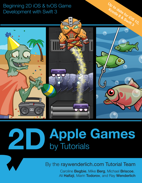 2D Apple Games by Tutorials book cover
