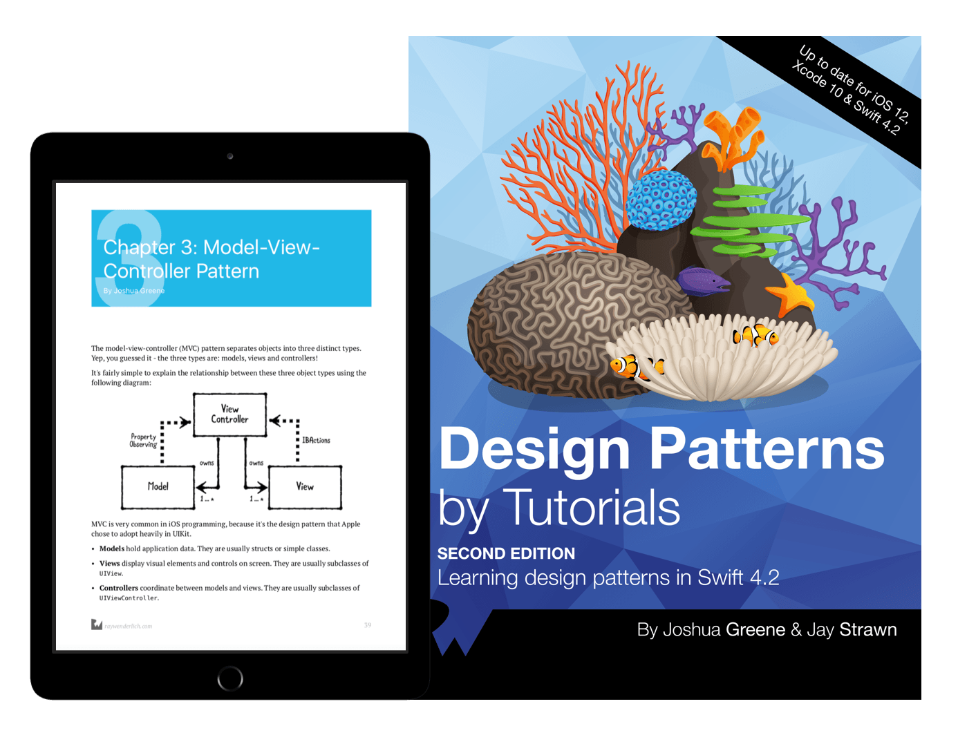 Design Patterns by Tutorials book cover