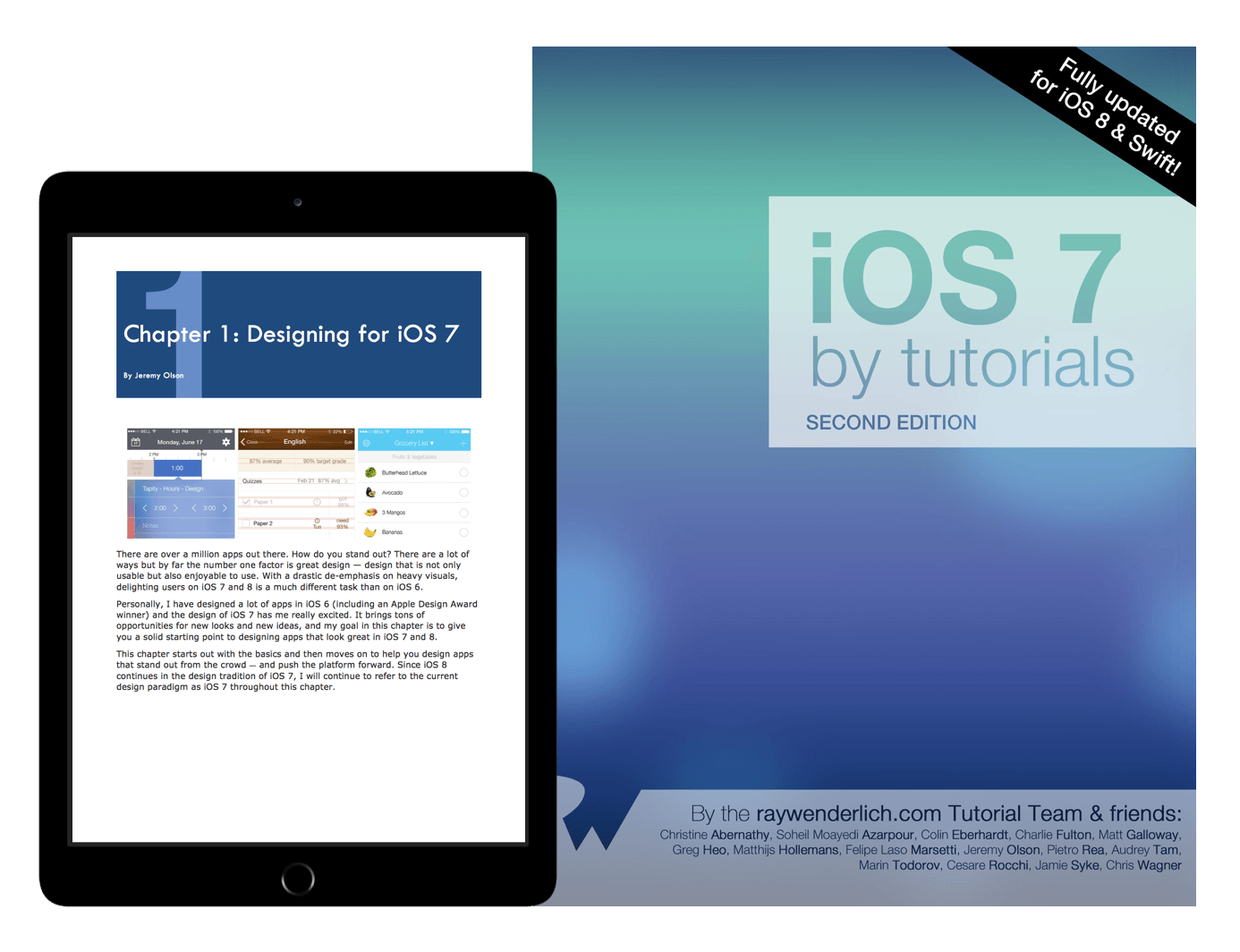 iOS 7 by Tutorials book cover
