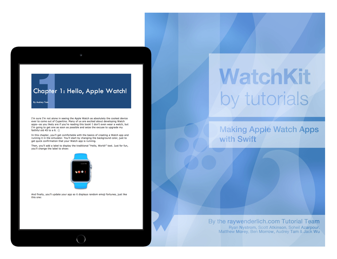 Watchkit by Tutorials book cover