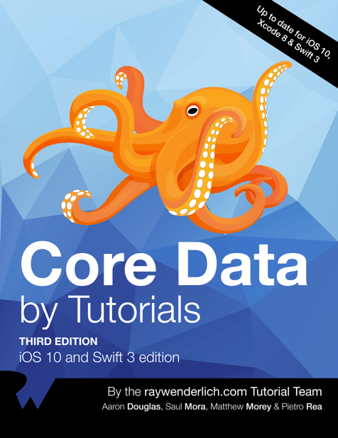 core data by tutorials book cover