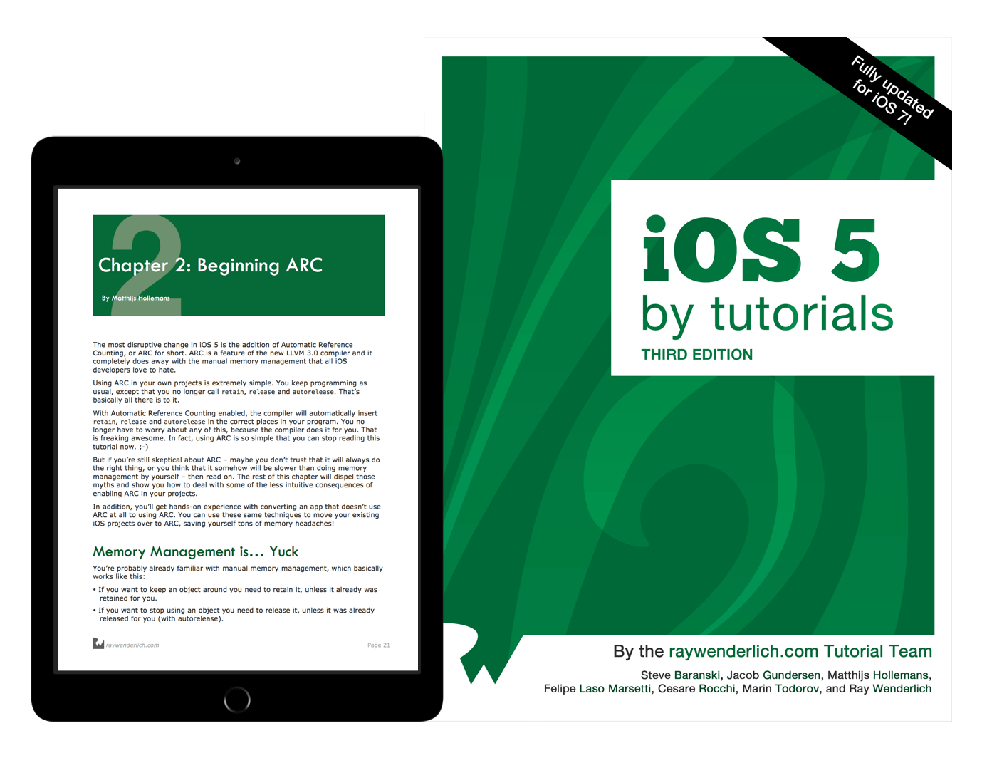 iOS 5 by Tutorials book cover