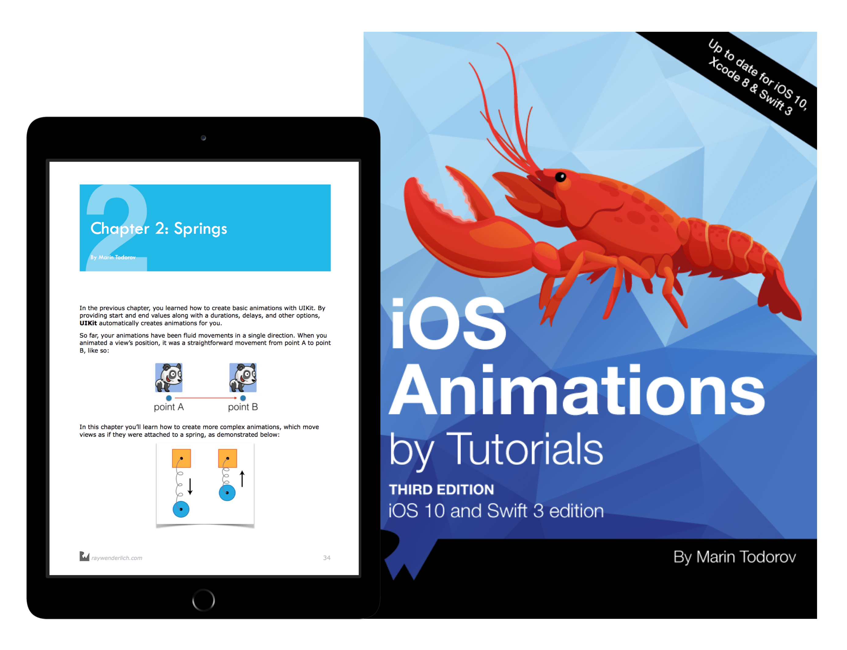 iOS Animations by Tutorials book cover