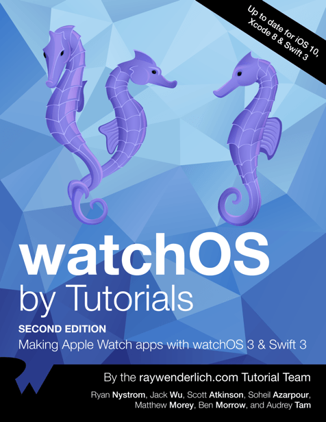 watchos by tutorials book cover