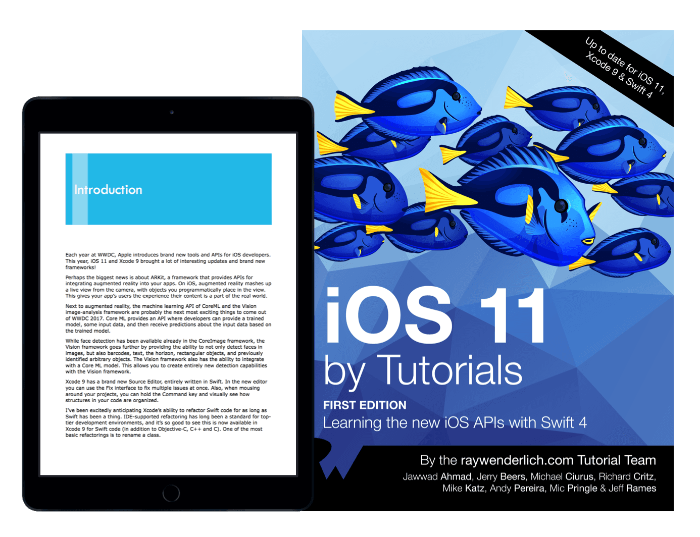 iOS 11 by tutorials book cover