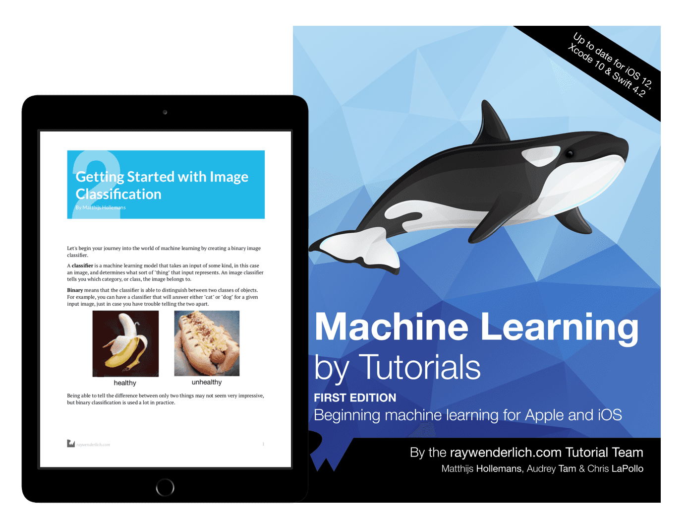 Machine Learning by Tutorials book cover