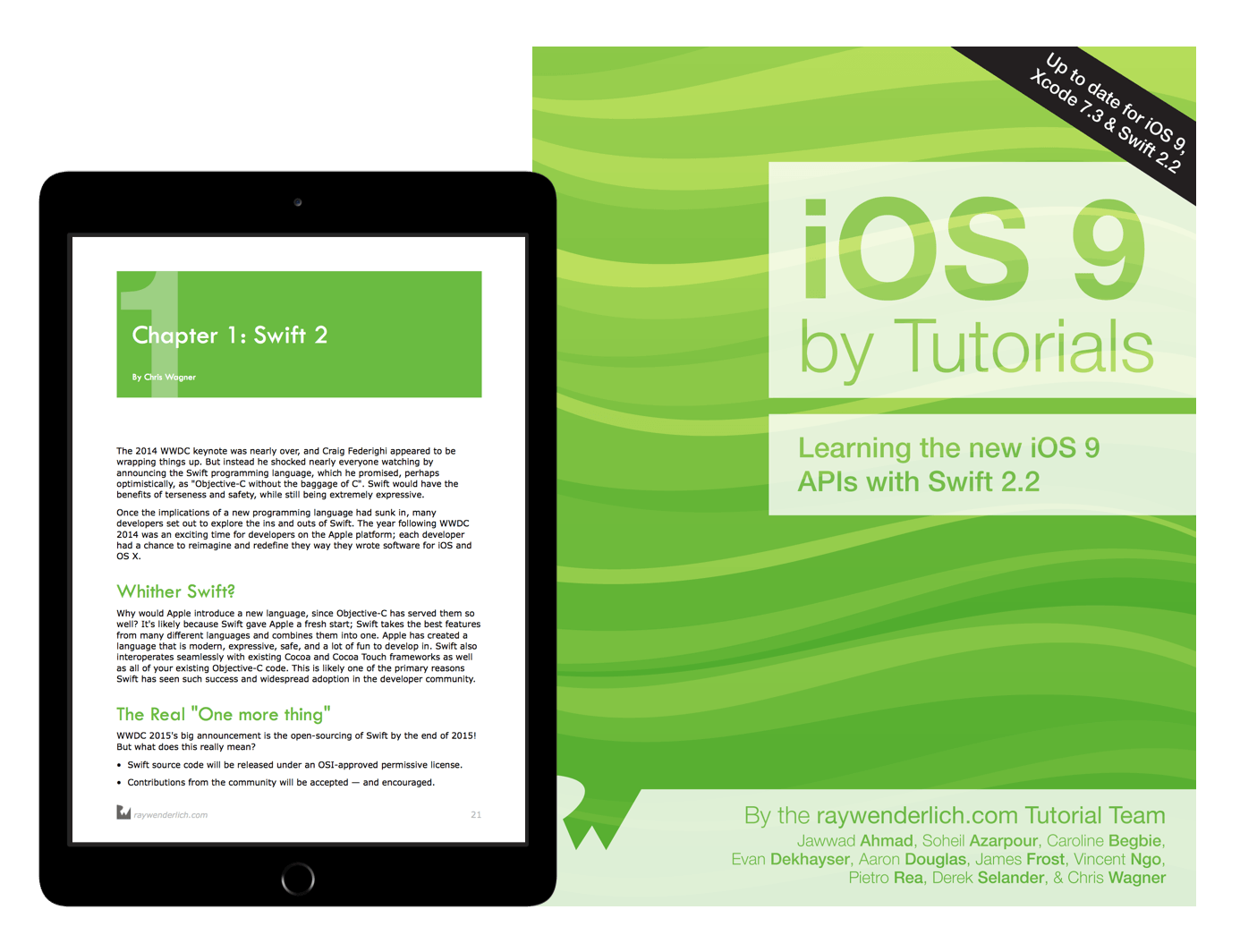 iOS 9 by Tutorials book cover