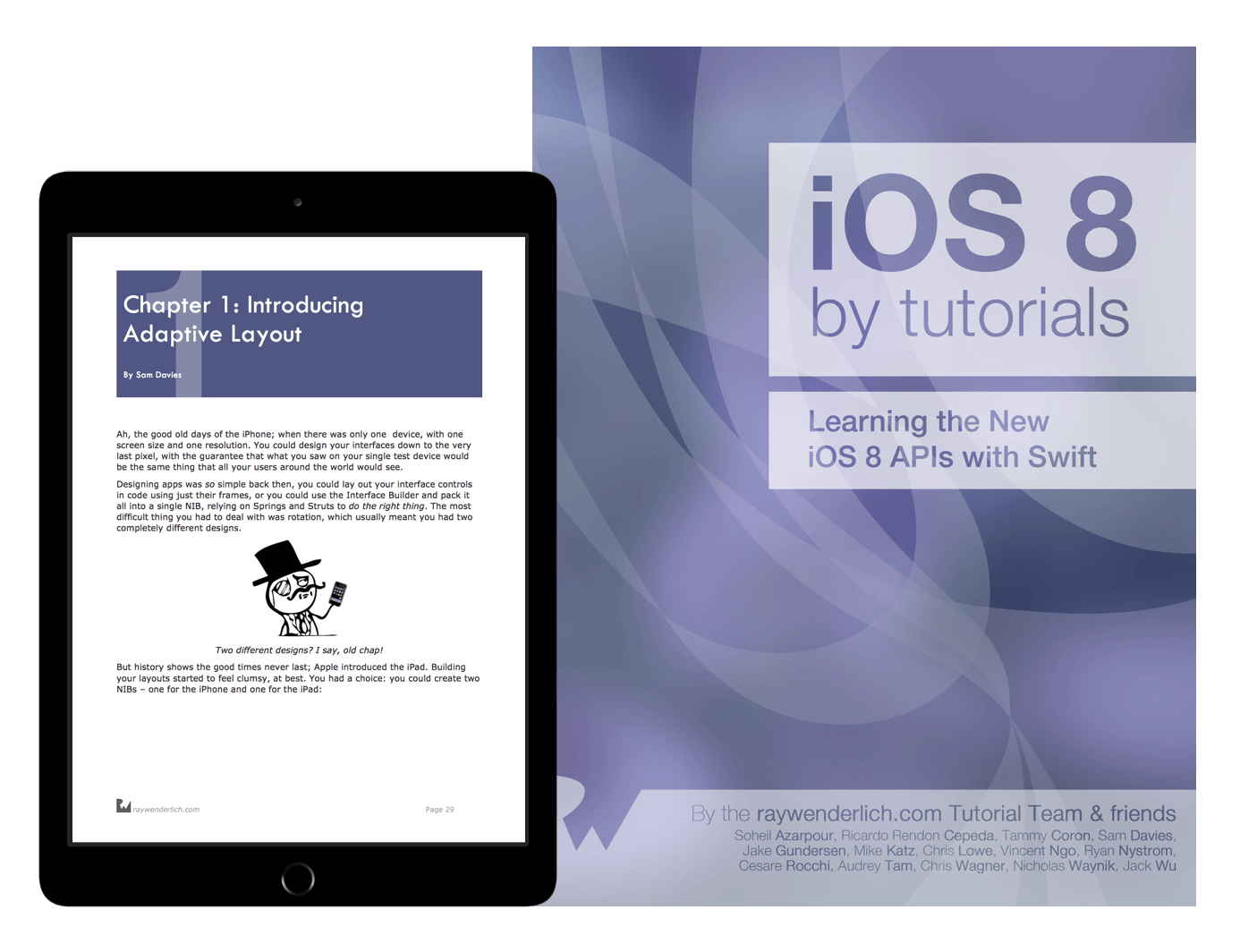 iOS 8 by Tutorials book cover